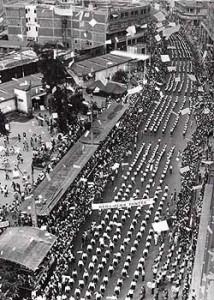 Desfile no dia 7 de setembro de 1967, no Centro