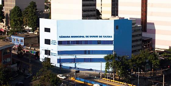 Vista da sede atual da Câmara Municipal de Duque de Caxias