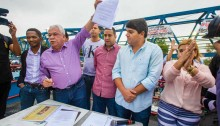 Vereadores participam de ato para sanção da lei dos 70%