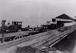 O transporte ferroviários aos  poucos substituiu o hidrográfico na região.