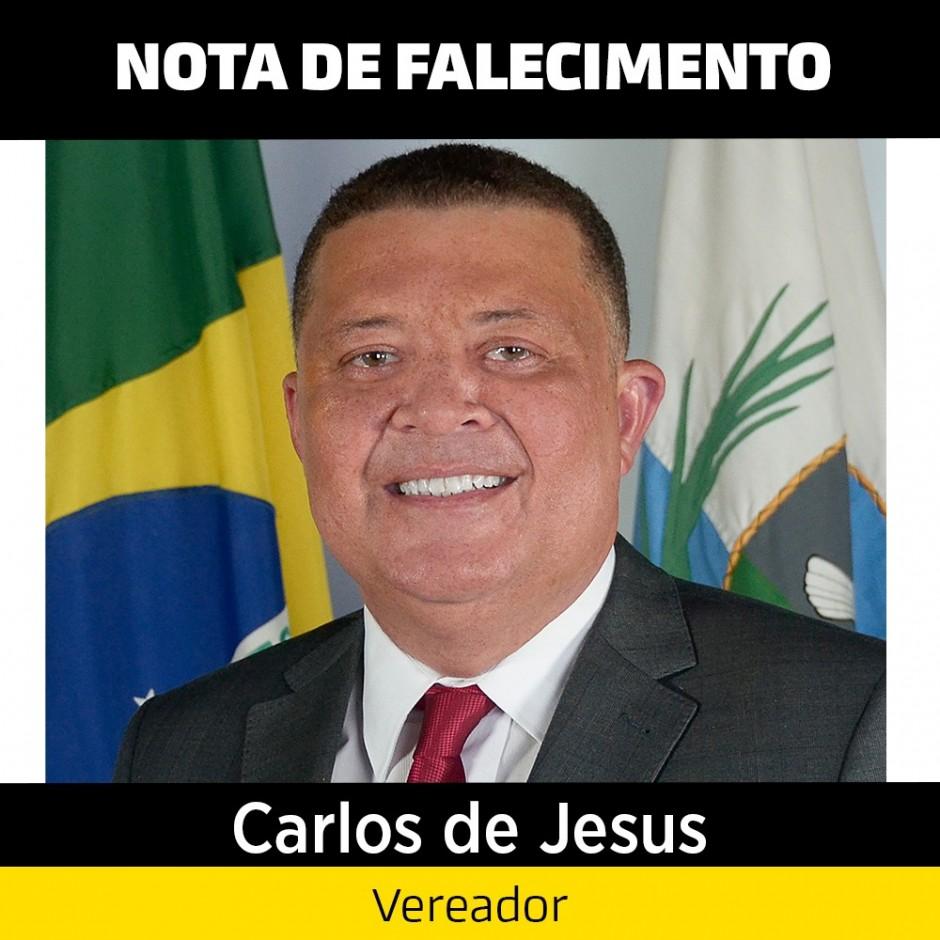 Nota de Pesar – Vereador Carlos de Jesus