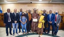 Sacerdote Nigeriano recebe homenagem do Vereador Catiti