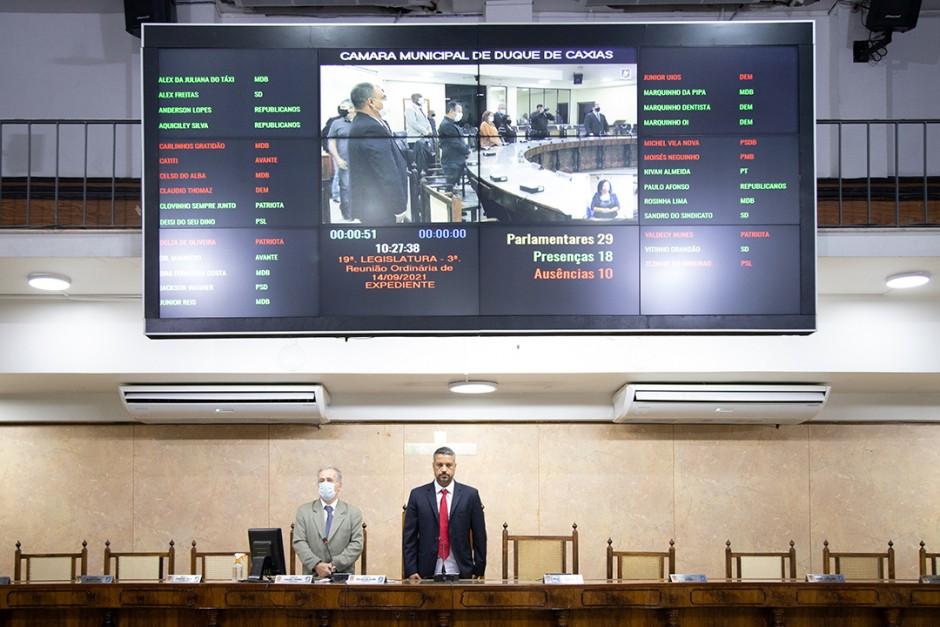 Sessão Plenária é marcada por homenagens ao ex-vereador Quinzé
